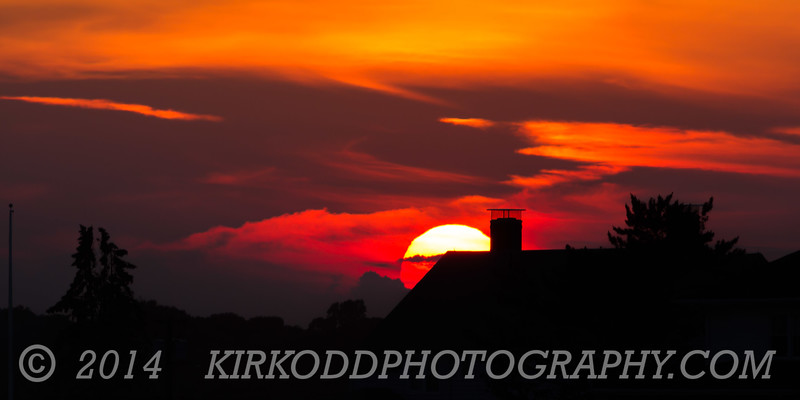 Rooftop Sunset Silhouette