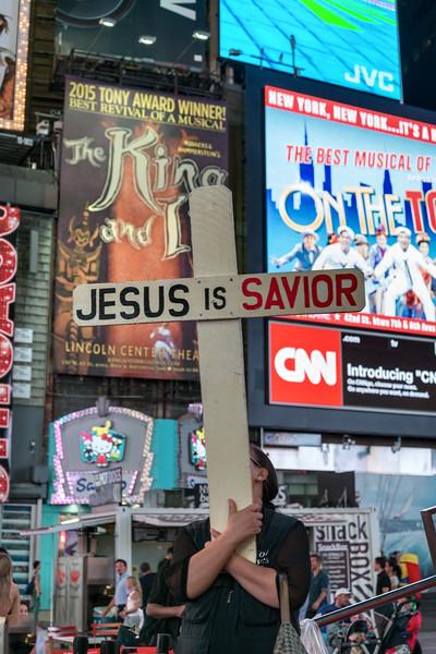 Jesus is Savior - Times Square, New York, NY, USA - August 18, 2015
