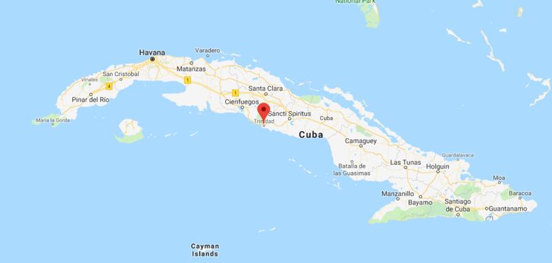 Trinidad Cuba Location