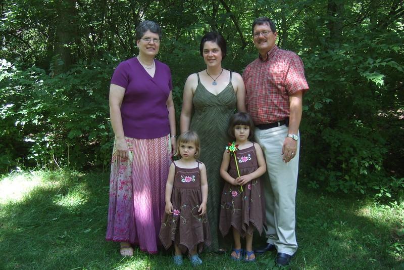 With Grandma and Grandpa Showalter.