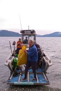 Off Loading Another Load - Vertical April 2013, Cynthia Meyer, Chichagof Island, Alaska