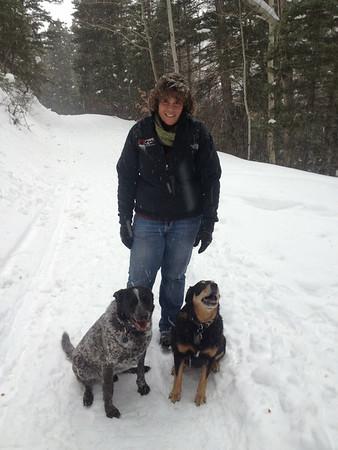 Snow walk near Ouray - 2014