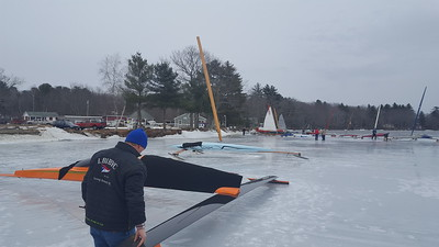 2017 03 10 Ice boating, Lake Damariscotta, Maine