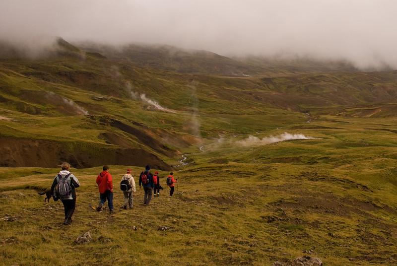 Haldið niður í Grænsdal