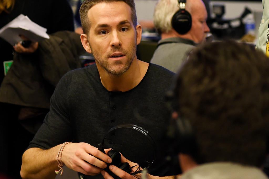 . SAN FRANCISCO, CA - FEBRUARY 05: Actor Ryan Reynolds doing interviews on Radio Row at the Moscone Center in downtown San Francisco, CA. February 05, 2016 (Photo by Joe Amon/The Denver Post)