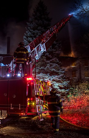 2 Alarm Vacant Building Fire - 115 Mill St, Belmont, MA - 11/14/16