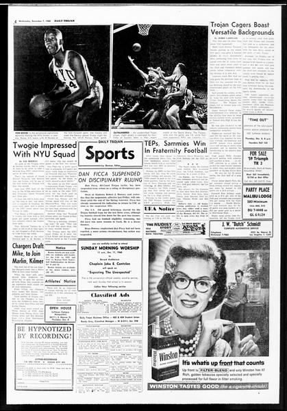 Daily Trojan, Vol. 52, No. 54, December 07, 1960