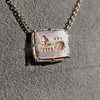 'For You I Live' 18kt Rose Gold Cast Rebus Pendant, by Seal & Scribe 22
