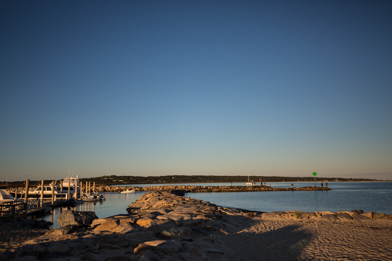 The famous Meneshma jetties and Lobsterville beach at sunrise. Chasing Martha's Vineyard False Albacore During the MV Derby
