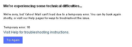 Wednesday Yahoo problem