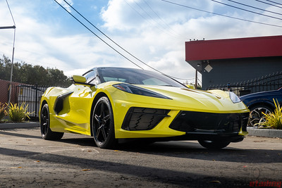 Corvette C8 - Accelerate Yellow Metallic - Full PPF Wrap