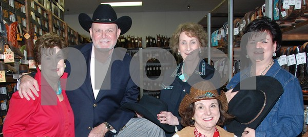 4/22/14 Broadway Star/East Texas Native Ron Raines Receives Boots At Cavender's Before TASO Conference by Jan Barton
