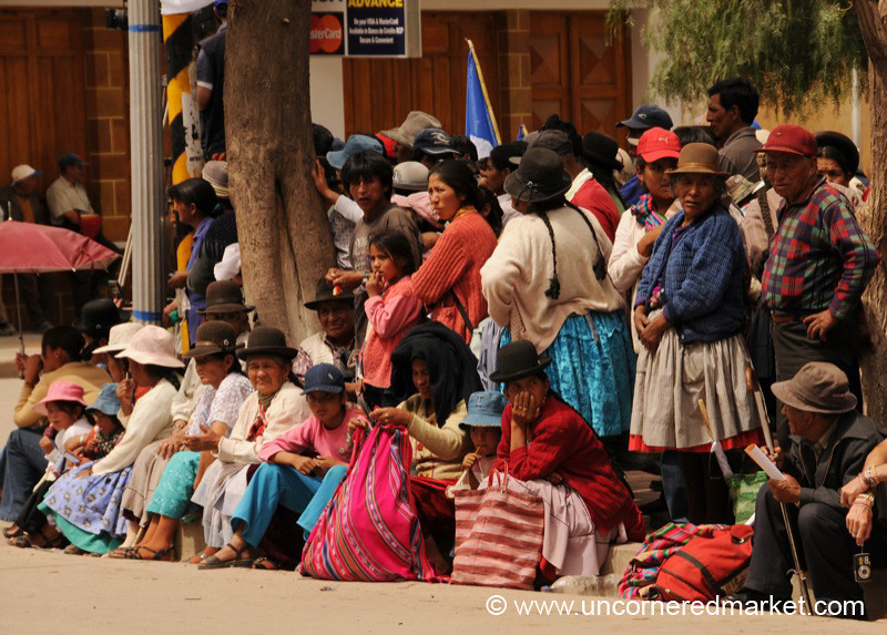Waiting Patiently - Political Rally in Tupiza, Bolivia