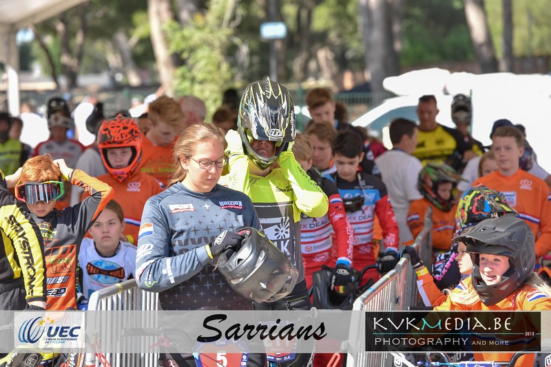 UEC Sarrians - practise Friday + podium European Cup Juniors