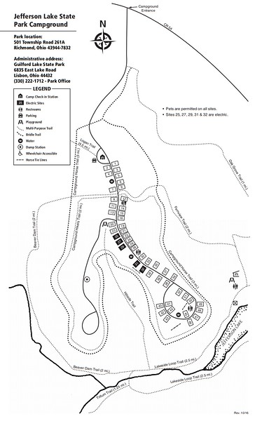 Jefferson Lake State Park (Campground Map)