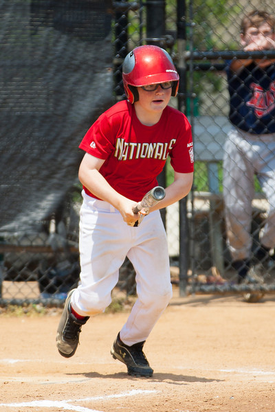 Christopher hits a RBI single in the top of the 4th inning. Nats trail 2-4. The bats of the Nationals were supported by a great defensive outing in a 11-4 win over the Twins. They are now 7-3 for the season. 2012 Arlington Little League Baseball, Majors Division. Nationals vs Twins (13 May 2012) (Image taken by Patrick R. Kane on 13 May 2012 with Canon EOS-1D Mark III at ISO 400, f4.0, 1/2500 sec and 280mm)
