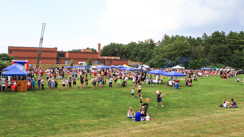 Hundreds of people  enjoy the 32nd Annual Kingston Police Department's National Night Out event held last Tuesday behind the Kingston Intermediate School.