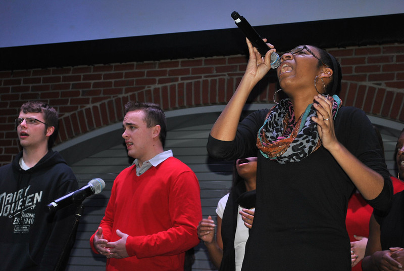 The gospel choir performs during celebration week