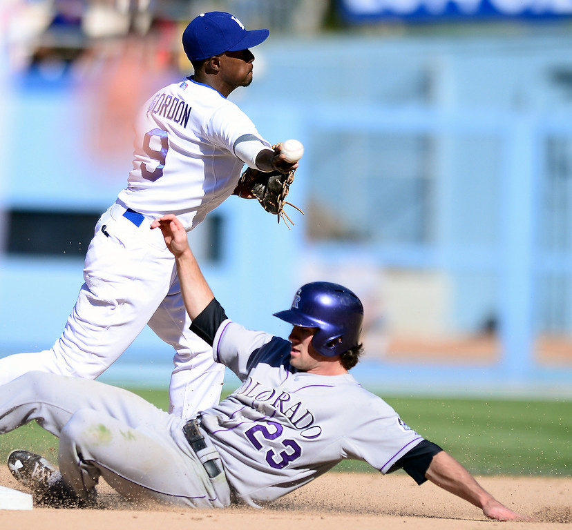 . Rockies defeat Dodgers 2-1 at Dodger Stadium during their final game of the regular season Sunday, September 29, 2013 . (Photo by Sarah Reingewirtz/Pasadena Star-News)