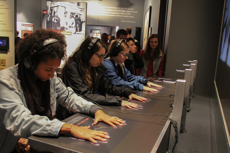 GWU Students in the Civil and Human Rights Museum on February 23, 2019.