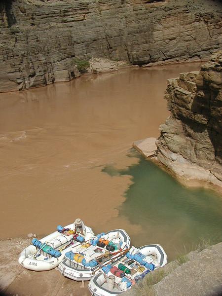 Rafting through Grand Canyon