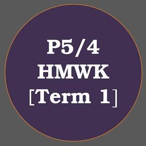 P5/4 HMWK T1