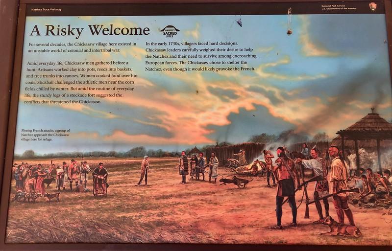 Informational marker on the Natchez trace