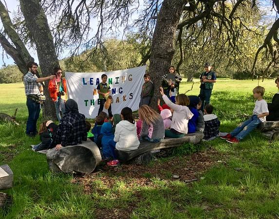 Santa Margarita School Oak Ambassador guided hikes for Mrs. Goossen's 1st grade and Mrs. Hammond's K classes