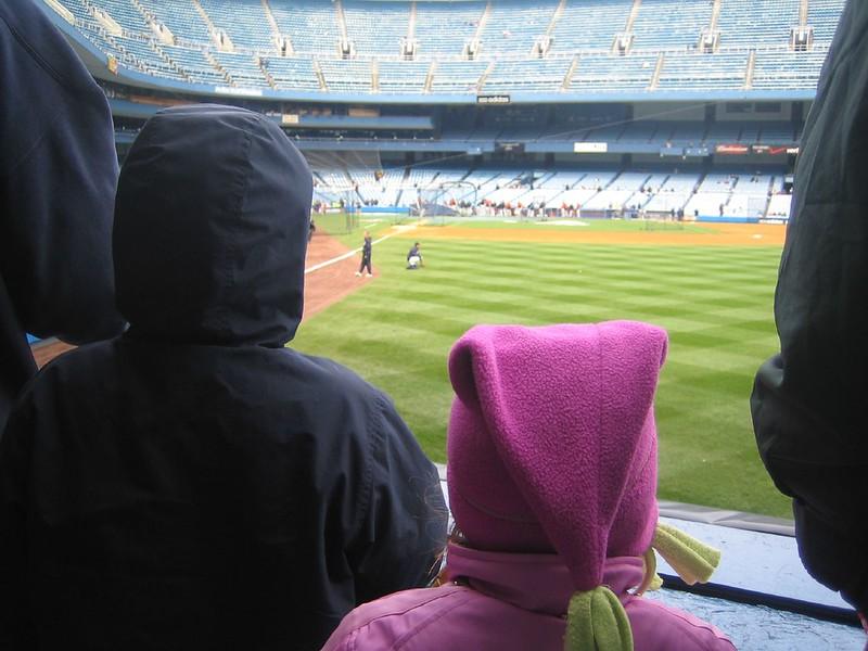 Jack and Julianna at Yankee Game 07
