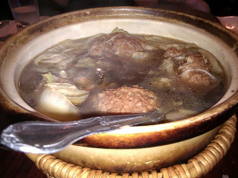 Joy Restaurant - Ground Pork Ball in Clay Pot