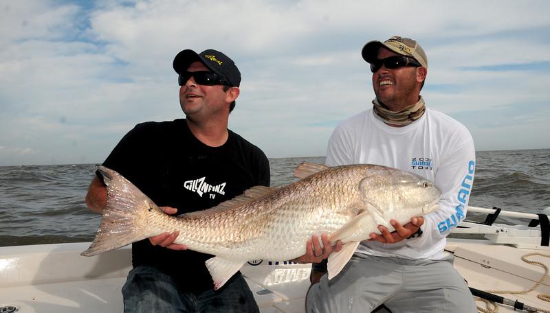 Chris Wilson and Adam Paul GillzNfinz Redfish 10 2009 5.jpg