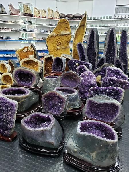 at Brazilian stones store