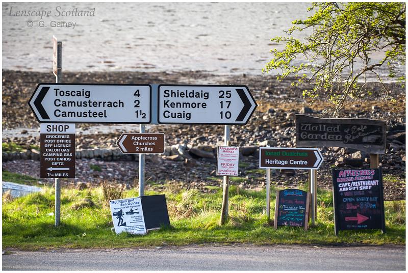 Road signs, Applecross village