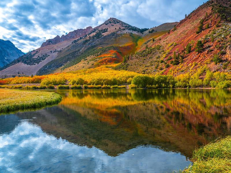 Autumn Storm Gathering: North Lake Bishop Creek Fall Foliage Autumn Colors