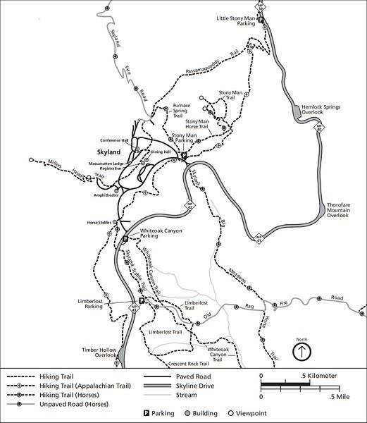 Shenandoah National Park (Trails - Skyland Area)