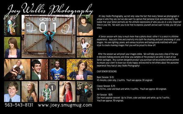 Senior Portrait 2012 information