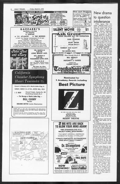 Daily Trojan, Vol. 61, No. 87, March 06, 1970