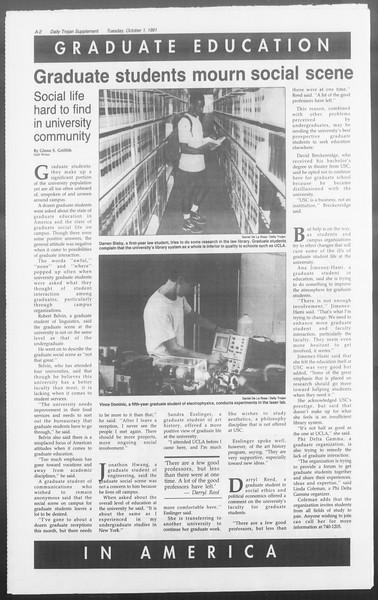 Daily Trojan, Vol. 116, No. 21, October 01, 1991