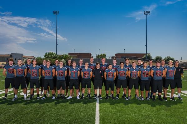 Roseville High School Varsity Football Senior Photo Shoot