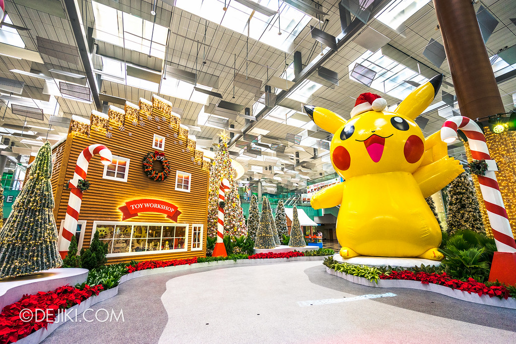 Pokémon at Changi Airport - Toy Workshop and Giant Pikachu