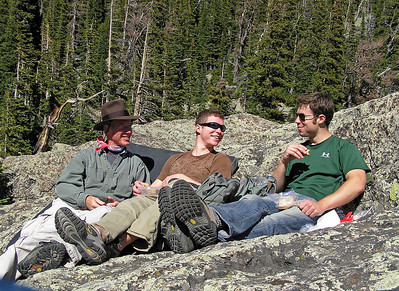 Lake Haiyaha RMNP, Conor and Will, September 8, 2008