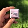 1.19ct Art Deco Carre Cut Diamond Solitaire 8