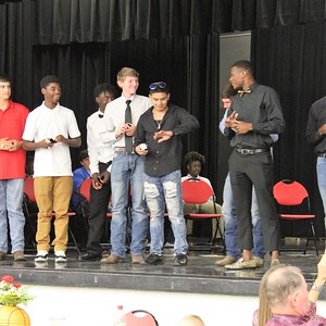 Shelbyville State Championship ring ceremony