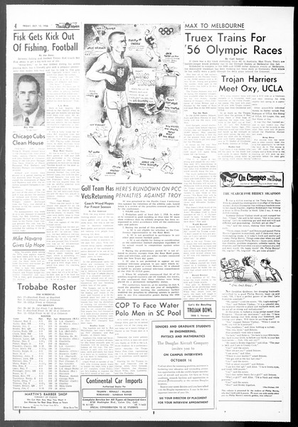 Daily Trojan, Vol. 48, No. 16, October 12, 1956