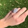 2.65ctw (est) Old Mine Cut Cobblestone Ring, French 39