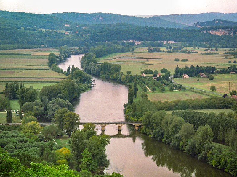 La Dordogne from Domme 1993