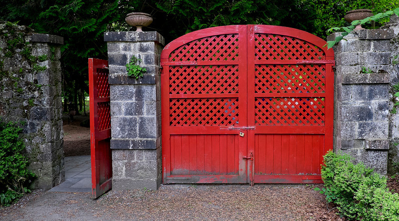 Gates to the walled garden.