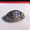 0.94ctw Vintage Old European Cut Diamond Dome Ring, Center OEC (GIA .59ct G SI2) 27