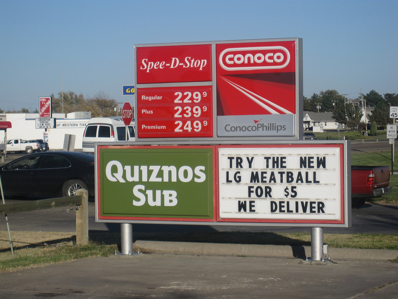 Cheap gas - was down to $2.11 when I left