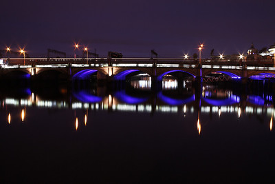 Glasgow Bridges At Night